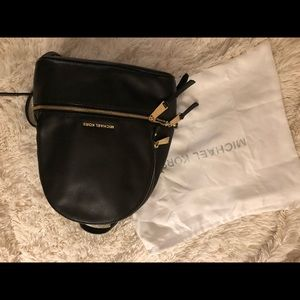 MICHAEL Kors Rhea black leather backpack